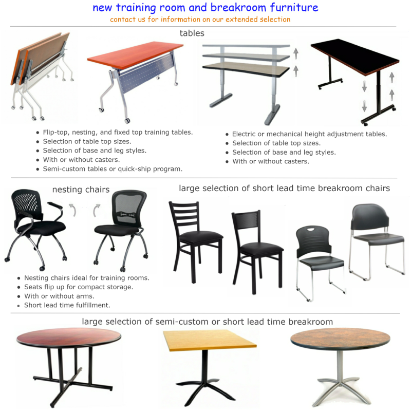 Furniture - Training table sizes